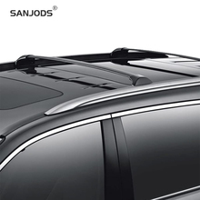 SANJODS Roof Rack OE Style Aluminum Bolt-On Top Rail Roof Rack Cross Bar Luggage Carrier Replacement For Acura MDX 14-18 sanjods car roof rack pair roof rack top rail aluminum cross bar replacement for toyota rav4 adventure 2019 2020