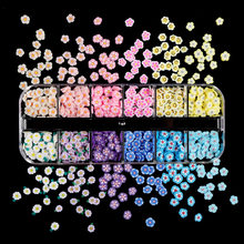 Tiny Cute Flower Polymer Clay Slices 3D Nail Art Accessories Japan Cherry Blossoms Daisy Sequins For Nails Decorations Supplies