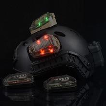 WADSN страйкбол Hel-Star 6 шлем сигнал IR зеленый/красный стробоскоп вспышка светильник Шлем тактический военный водонепроницаемый спасательный светильник
