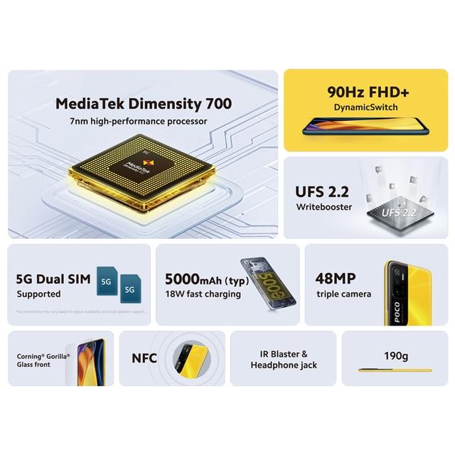 "Global Version POCO M3 Pro 5G Dimensity 700 Octa Core NFC 90Hz 6.5"" FHD+ DotDisplay 48MP Triple Camera 5000mAh in Stock 2"