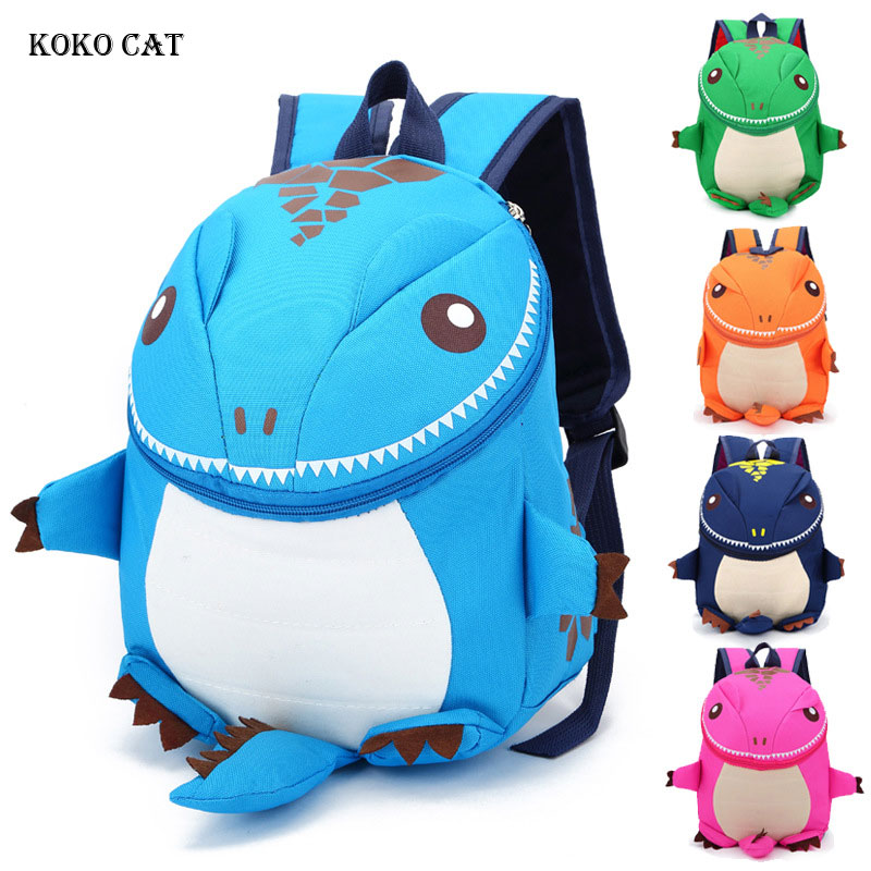 KOKO CAT 3D Dinosaur Backpack For Boys Kids Kindergarten SchoolBags Girls Animal School Bags Plush Rucksack Toddler Travel Bags
