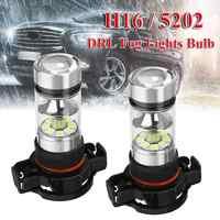 2 uds 100W H16 luz antiniebla LED DRL bombillas de conducción para Chevy Silverado 1500 2007-2015