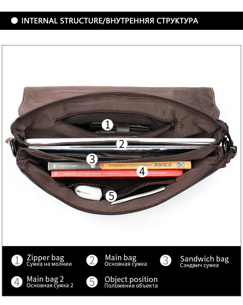 H4ed4899047ce48f8820f3337a21c8484v Bag Men's Briefcase Genuine Leather Office Bags for Men Leather Laptop Bags Shoulder/Messenger Bag Business Briefcase Male 7909