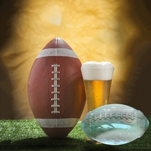 Rugby Shape Ice Cube Mold Chocolate Mould Bar Party Supplies Shaped Whisky Wine Tray Maker 3D Football