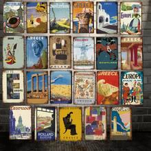 Mike86-cartel de estaño de Italia, Grecia, Alemania, Vintage, Retro, pintura de hierro, personalizado, viaje, foto de vacaciones, 20*30 CM, LT-1947