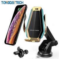 Tongdaytech 10W Auto Veloce Qi Caricatore Senza Fili Per Iphone X 8 XS 11 Pro Max Del Telefono Dell'automobile di Sfogo Aria supporto Per Samsung S10 S9 S8 Più