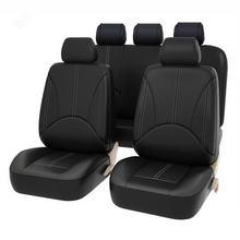 Cubierta Universal de asiento de coche, Protector de cuero Pu, 2 tipos, cuatro estaciones