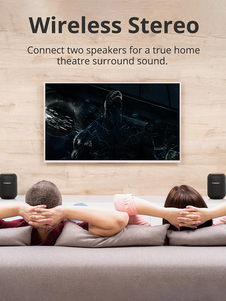 Clearance SaleTronsmart Bluetooth-Speaker IPX5 NFC Home Theater Max 60W with Voice-Assistant Nfc/20h/Play-time