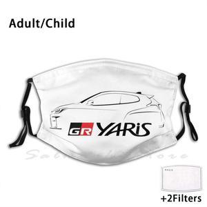 Maska Gr Yaris sylwetka-czarna Gazoo Racing Gr Yaris Gr Yaris Wrc Rallye Rally homologacja homologacja specjalny samochód Trd