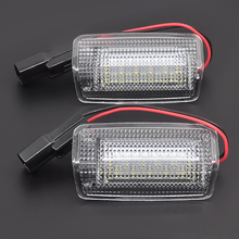 2x White Red Car Led Door Courtesy Light For T.oyota Wish Prius Camry Alphard Estima L.exus Is250 Rx350 Land Cruiser 200