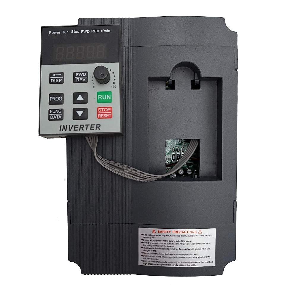 Инвертор VFD 1,5 кВт/2,2 кВт/4 кВт, Стандартный преобразователь частоты, однофазный вход и контроллер скорости 3-220 В