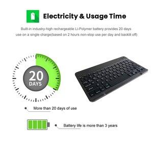 Image 5 - AVATTO russe/anglais Ultra mince 7 couleurs LED rétro éclairé sans fil Bluetooth tablette clavier pour Android Mac OS Windows tablette téléphone