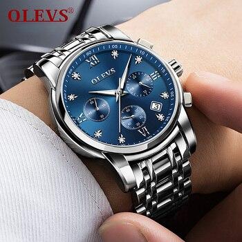 OLEVS Classic Men Quartz Watch Waterproof Stainless Steel Watchstrap CE Attestation Luxury Fashion Men Wristwatch 2