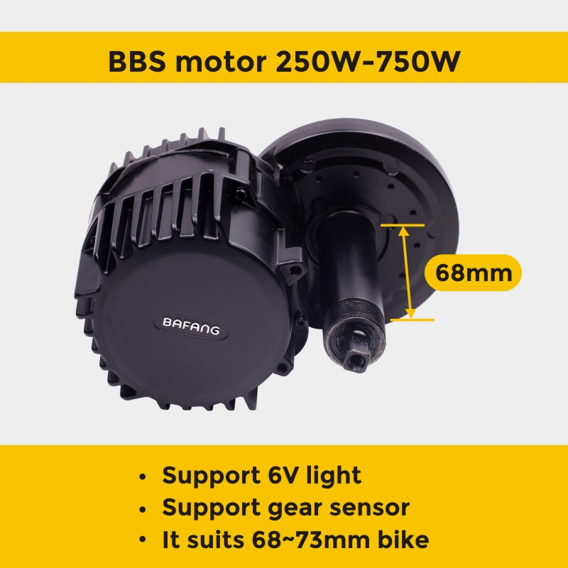 Image 2 - Bafang motor BBS01B 36V 250W bafang BBS01 bafang electric bike 8FUN mid drive motor ebike e bike electric bike conversion kitElectric Bicycle Motor   -