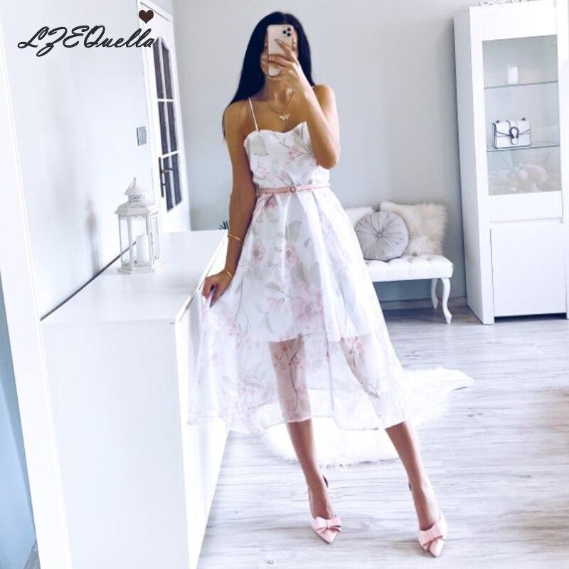 LZEQuella Princess Strap Floral Mesh Dress Sleeveless Slash Neck Long Dresses Party Beach Holiday Club Dresses Sundress NZ1556