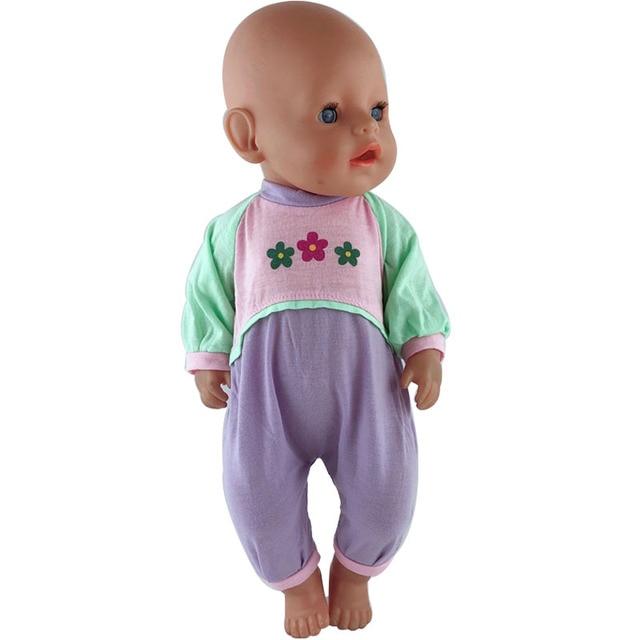 15 di colore Vestiti per le Bambole Vestito Adatto Per 43 centimetri Bambole Vestiti Del Bambino Nuovo Nato Bambola 17 Pollici, bambini migliore Regalo Di Compleanno 4