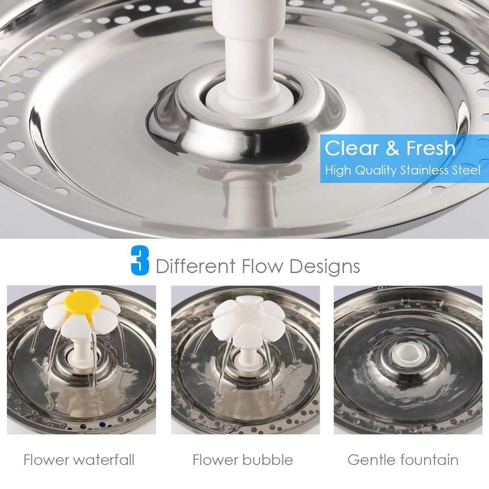 Автоматический диспенсер для воды для питомца кота USB светодиодный 2.4L ультра Тихая миска для питья собаки поилка для питья миска для питья д...