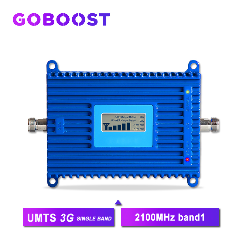 70dB 3G 2100MHz Cellular Signal Booster Repeater WCDMA Cell Phones Amplifier 3G Signal Amplifier Booster Band1 LCD Display >