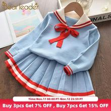 Bear Leader Girls Fashion Knitted Dress 2020 New Autumn Winter Girl Baby Solid Clothes Children Casual Costumes for 3 6 Years