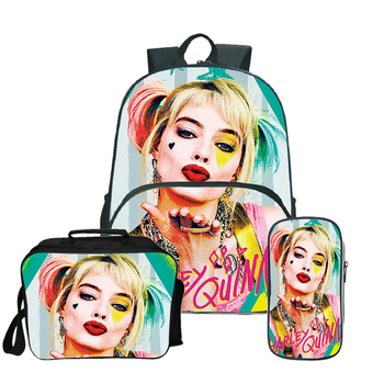 2020-mochila-cartoon-harley-quinn-backpack-3pcs-sets-school-bags-for-teenage-girls-lunch-tote-pencil-case-travel-backpacks-kids
