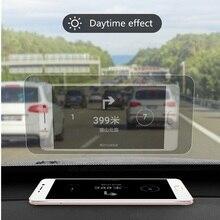 10 adet 12cm * 9cm Yansıtıcı Film GPS HUD Otomobil Head Up Display araç ön camı Projektör Aksesuarları