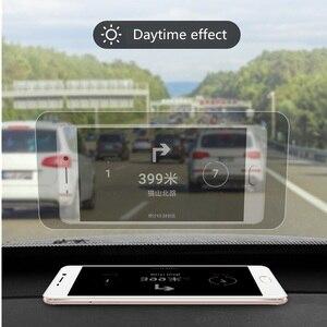 Image 1 - 10 adet 12cm * 9cm Yansıtıcı Film GPS HUD Otomobil Head Up Display araç ön camı Projektör Aksesuarları