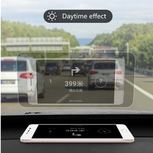 Image 4 - Car HUD Reflective Film Head Up Display System Film OBD Fuel Consumption Overspeed Display Auto Accessories