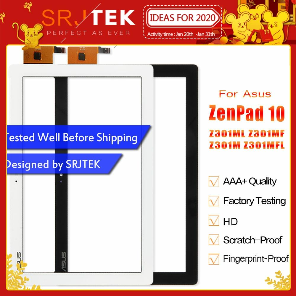 SRJTEK For ASUS ZenPad 10 Z301M Z301ML Z301MF Z301MLF P028 Touch Screen Digitizer Glass Panel Sensor Replacement For Asus Z301