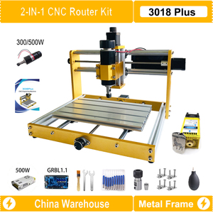 CNC 3018 Plus Metal Frame CNC Router Kit With Nema17 42BYG Stepper Motor 300W/500W Spindle Engraving Machine