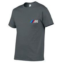 Модные брендовые мужские футболки с коротким рукавом с принтом M power Fun Классические Летние Стильные повседневные футболки спортивные топы