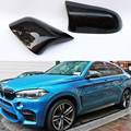 F16 X6 X5 X4 X3 M Stile Fibra di Carbonio Sostituire Dell'automobile Della Copertura Dello Specchio Della Protezione Trim per BMW X Serie 2014  2016-in Specchietti e accessori da Automobili e motocicli su