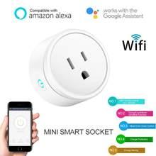 16a tomada inteligente para eua plug com monitor de energia, wi-fi tomada de energia inteligente com controle de voz do google casa amazom alexa