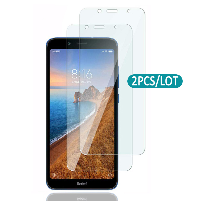 2pcs Transparent Tempered Glass For Xiaomi Redmi 7a Screen Protector For Redmi 7 Pro Protective Safety Glass On Redmi7 Redmi7a