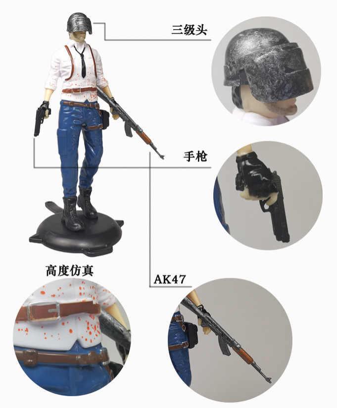 Oyun figürü PUBG savaş Royale aksiyon figürleri kask ile PUBG kek dekorasyon figürü oyuncak savaş Royale hayranları koleksiyonları