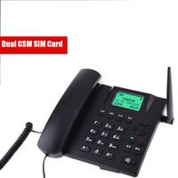 Multi language Wireless Phone GSM Dual SIM Card Fixed Phone With Call ID Landline Phone Fixed Wireless Telephone Home Black|Telephones| |  -