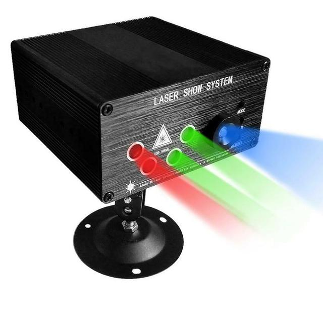 RGB เลเซอร์โปรเจคเตอร์ Light Disco Ball Party ไฟ Strobe Light RGB ไฟ LED Stage สำหรับคริสต์มาสหน้าแรก KTV Xmas งานแต่งงานแสดง