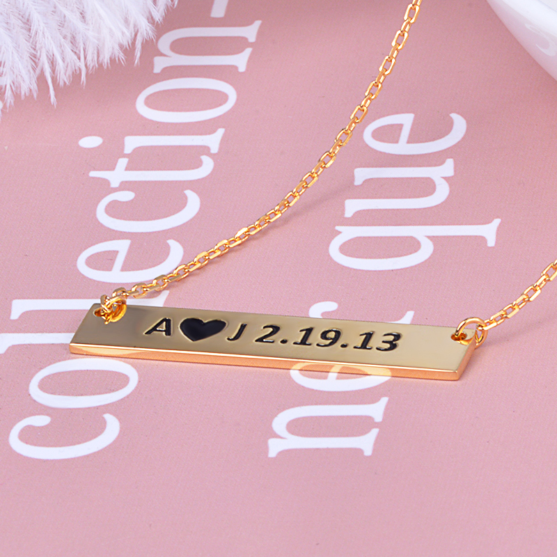 Strollgirl new 925 Sterling Silver Personalized Jewelry Custom Necklaces Engraved Name Pendant Women's 2020 Valentine's Day Gift