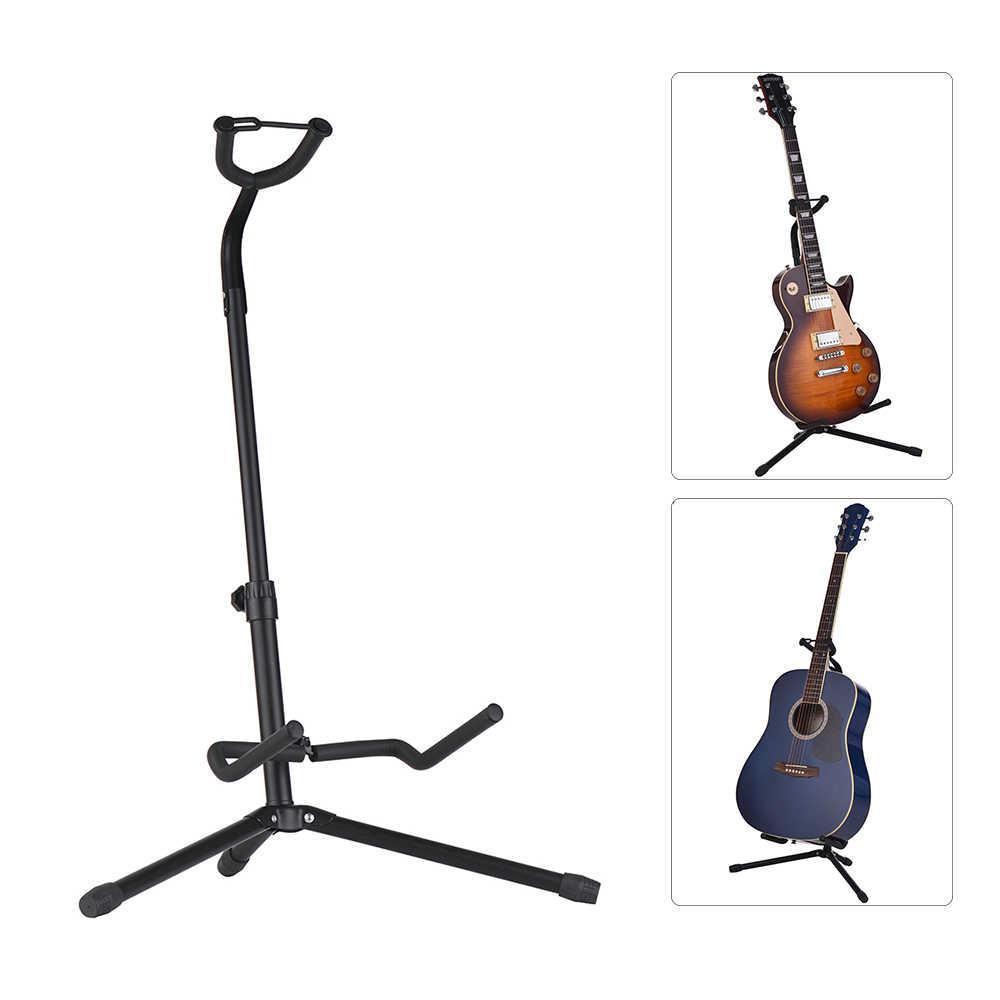 المعادن الغيتار الطابق حامل الموسيقية أداة الحامل ثلاثي الأرجل ل الصوتية الكهربائية الغيتار باس
