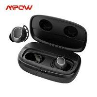 Mpow M30 Plus Bluetooth 5.0 veri auricolari Wireless 100h Playtime iPX8 auricolari TWS resistenti al sudore USB-C ricarica per iPhone Xiaomi
