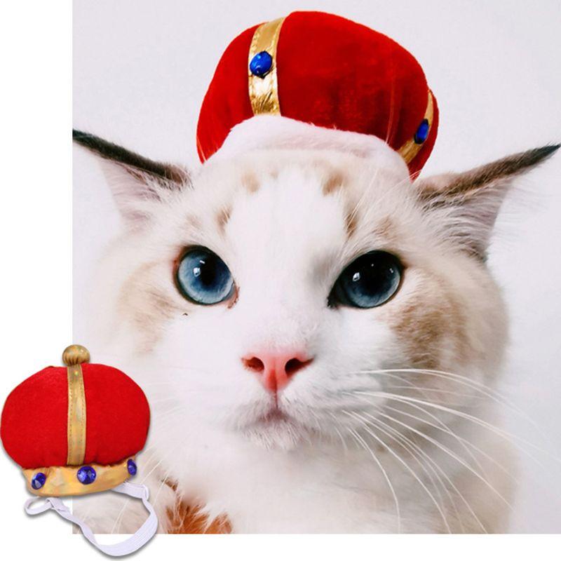 Pet Dog Crown Hat Cat Puppy Birthday Party Cap Headwear Headdress Decoration Pet Costume Accessories C42
