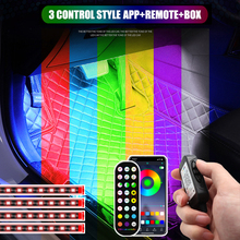 48 LED Decorative Lights Car Foot Light Ambient Lamp USB App Remote Box Control Multiple Modes Automotive Interior