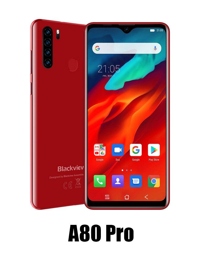 Blackview A80 Pro 4GB 64GB 4gbb GSM/CDMA/WCDMA/LTE Octa Core 13mp New Mobile-Phone 4-Rear-Cameras