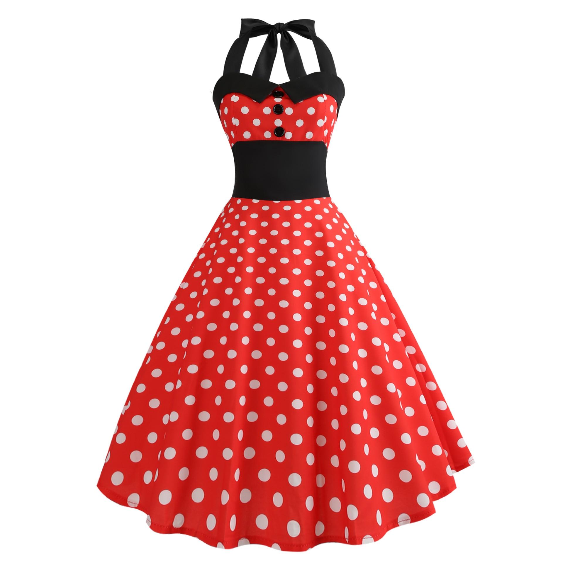 Купить женское летнее платье в винтажном стиле цветочный принт рокабилли