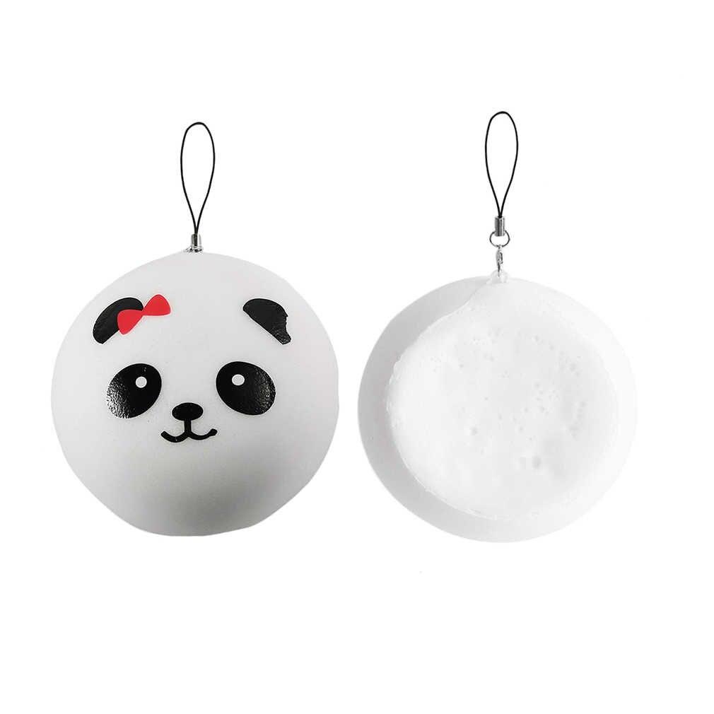 Ocday 10 Cm Squishy Panda Lucu Anti Stres Lambat Rising Lembut Squeeze Mainan Telepon Kawaii DIY Aksesoris Jumbo Licin Anak-anak mainan