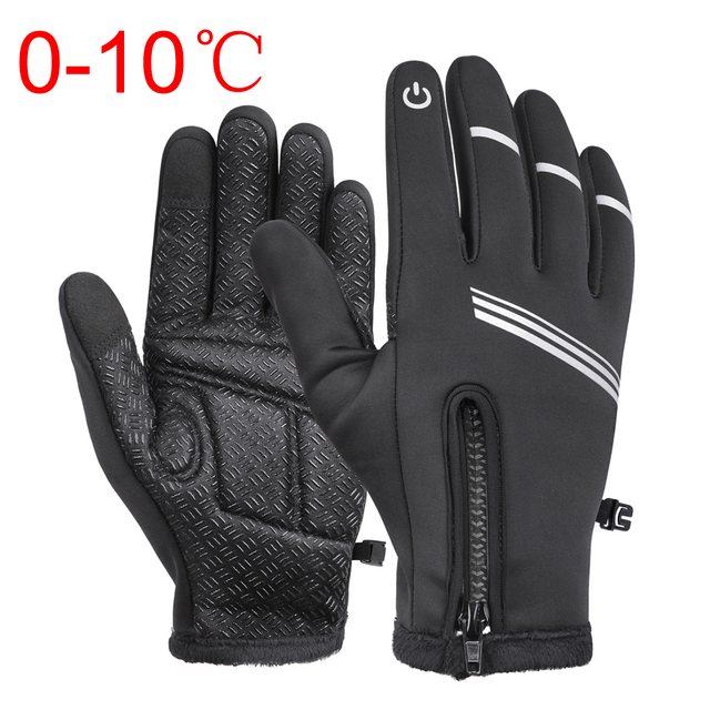 Mens Non-Slip Cycling Gloves Touch Screen Full Finger Bike Bicycle Motorcycle US