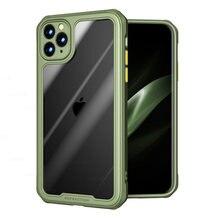 Caso resistente à prova de choque armadura para iphone 12 11 pro max mini reforçado tpu acrílico caso para iphone xs max xr xs x 7 8 plus