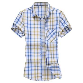 Plus size ανδρικό κοντομάνικο πουκάμισο