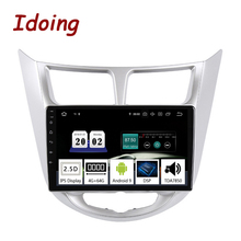 "Idoing 10,2 ""auto Radio Multimedia No 2Din Android 9,0 reproductor de Video GPS de navegación para Solaris Hyundai 1 2 acento Verna I25 Sedán"