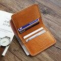 LANSPACE designer handgemachte leder männer brieftasche berühmte marke leder geldbörse