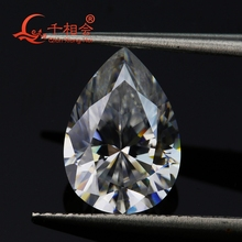 DF FH  IJ color white pear shape diamond cut Sic material moissanites loose gem stone qianxianghui
